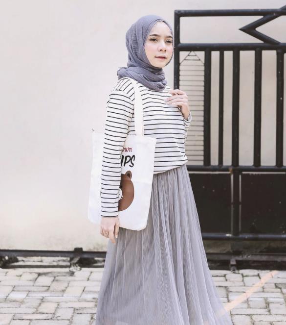 10 OOTD Hijab Rok Tutu agar Kamu Tampil Stylish